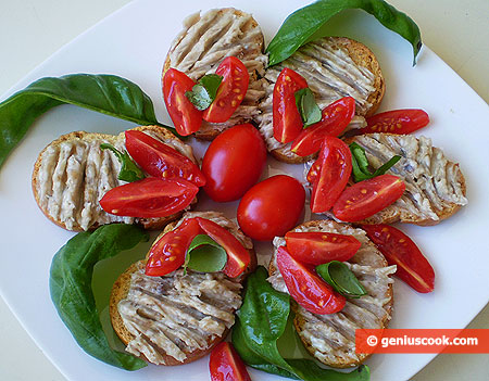 Crostini alle acciughe