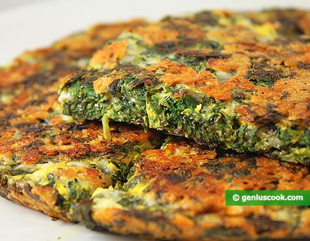Frittata di spinaci e formaggio