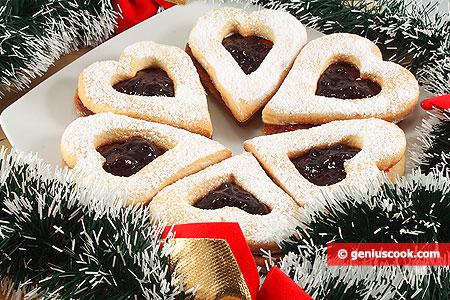 Biscotti di Linz con marmellata di Ribes