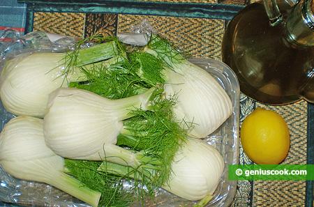 Ingredienti peri l'Insalata di finocchi