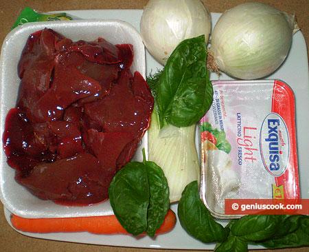 ingredienti per il Paté di Fegato di Coniglio