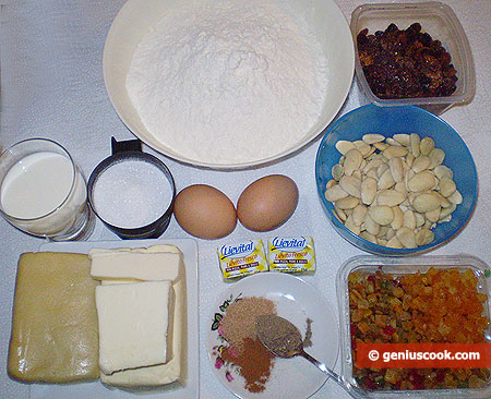 Ingredienti per lo Stollen