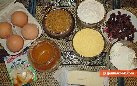 ingredienti per i Muffin dim Mais