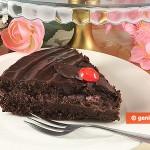 Fetta di Torta al Cioccolato senza Farina e senza Burro