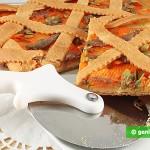 Tranci di Crostata con Zucca e Acciughe salate