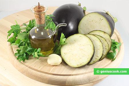 Ingredienti per le Bruschette con Melanzane grigliate