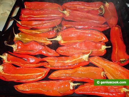 Prima cottura peperoni