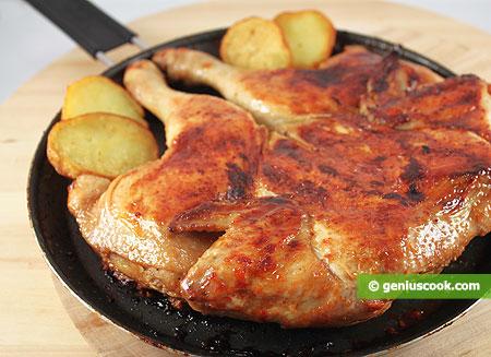 pollo alla diavola ben rosolato