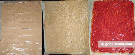 preparato per meringa: crudo, cotto,, con fragole