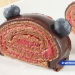 Fetta di Meringa al cioccolato arrotolata