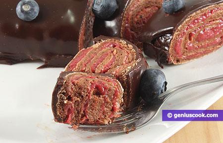 Meringa al cioccolato arrotolata