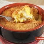 Gateau (Gattò) di patate con mozzarella in terrina