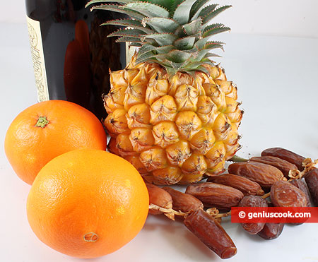 Ingedienti per l'Ananas ripieno