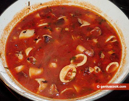 salsa con calamari