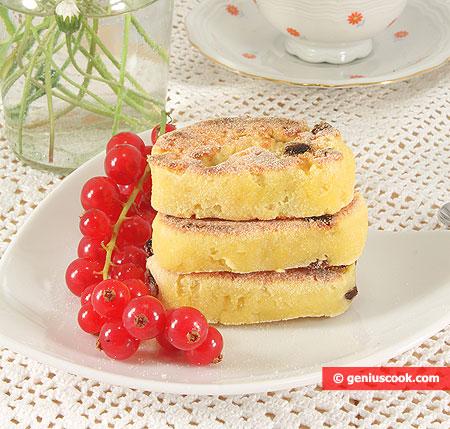 Cheesecake Biscotti morbidi con Ricotta e Uva sultanina