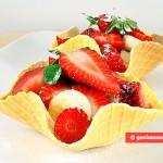 Canestrelli Cialde croccanti con Frutta
