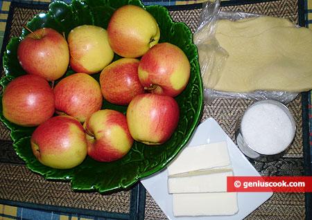ingredienti per la torta di Mele Tarte Tatin