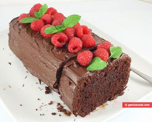Cake al ioccolato e lamponi
