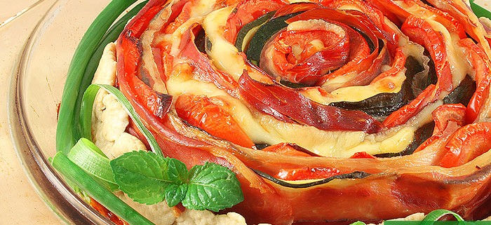 Crostata Rustica con Zucchini Prosciutto Formaggio