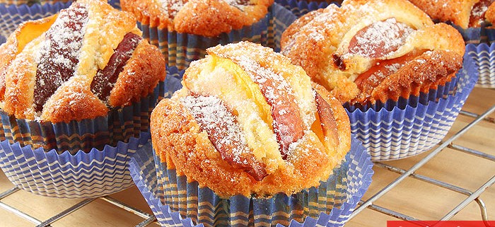 Muffin con Pesche Nettarine
