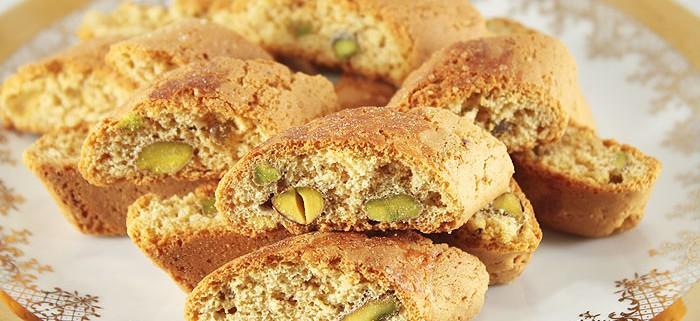 Biscotti Cantuccini con Pistacchi