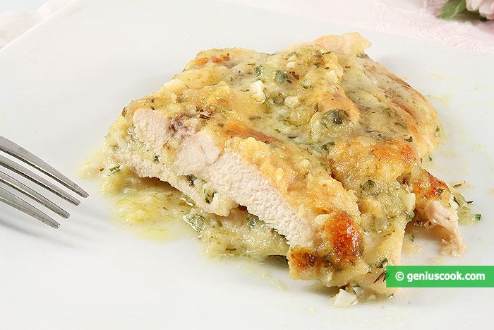Petto di Pollo al forno con mozzarella