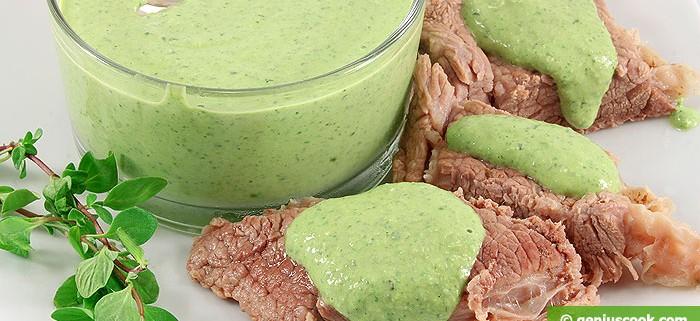 Salsa verde di Francoforte con carne