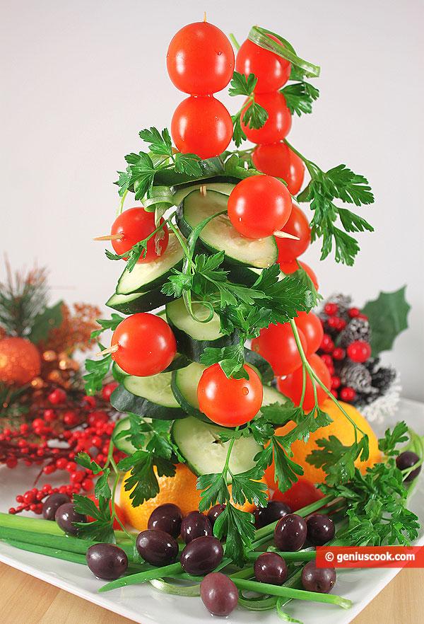 Antipasto ad albero di Natale