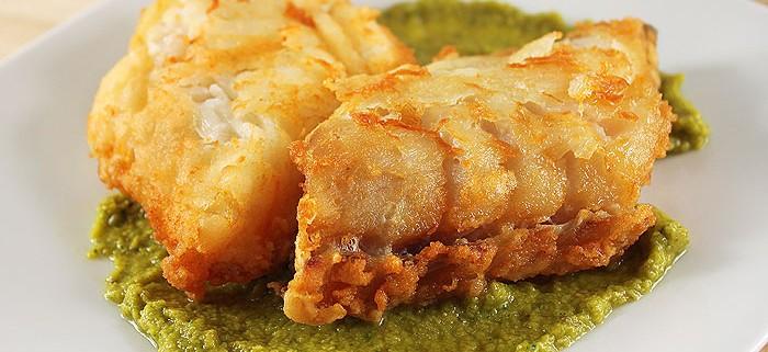Baccalà fritto in Salsa verde