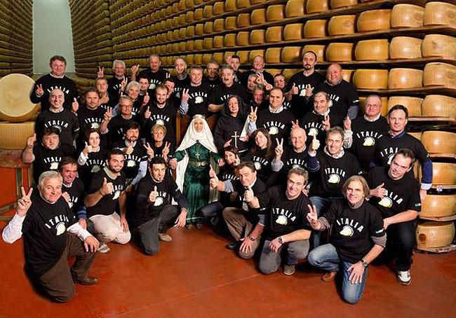 Squadra Italiana dei Produttori di Formaaggio partecipanti alla competizione