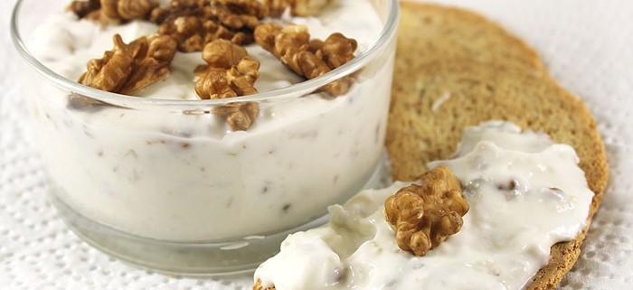 Crema di Formaggio Gorgonzola, Yogurt greco e Noci