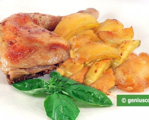 Pollo marinato alla Panna con Patate