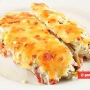 Indivia belga al forno con prosciutto e formaggio