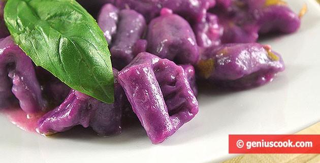 Gnocchi di Patate viola con Salsa al Limone